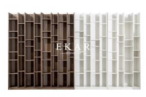 China High Quality Walnut Veneer Wooden Bookcase Bookshelf KSL-BK001 on sale