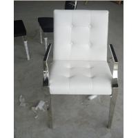 Customized Modern White Leather Casual Leisure Lounge Chair / Armchair