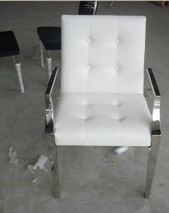 China Customized Modern White Leather Casual Leisure Lounge Chair / Armchair  on sale