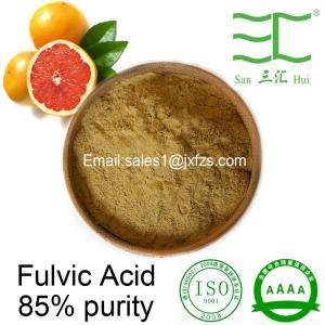 China buy fulvic acid 95% 85% 75% powder high water solubility on sale