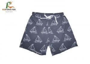 China Fabric 4 Way Stretch Boys Board Shorts Little Boat Design Plus Size Comfortable on sale