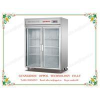 China OP-906 Vertical Single Temperature Double Glass Door Upright Display Freezer on sale