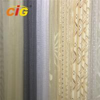 100 Polyester Lace Curtain Fabric , Lace Table Cloth Upholstery Fabric 50-200gsm Weight