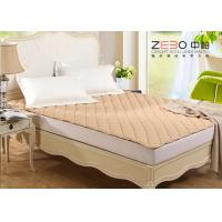 Different Color Hotel Mattress Protector Microfiber With Elastic Bands At 4 Corners