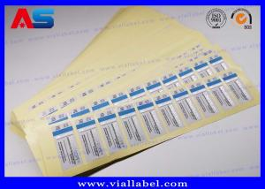 China Water - Proof 2 Dram Vial Labels Steroid Bottle Sticker For Testosterone Steroids Hgh on sale