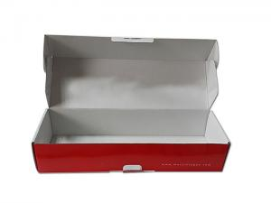 China Corrugated box with red color printing on sale