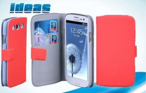 China Orange Samsung Galaxy Leather Cases , Samsung Galaxy Siii Protective Case on sale