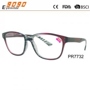 China New style fashion competitive price Color plastic reading glasses,spring hinge,metal silver pins on sale