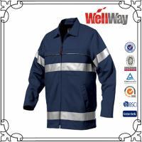 China Camisas reflexivas del trabajo de los hombres de la cinta de la seguridad de la marina de guerra on sale