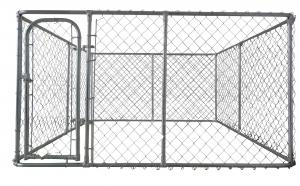 China chain link dog run fence 6ft x 10ft x 10ft dog kennel chain mesh on sale