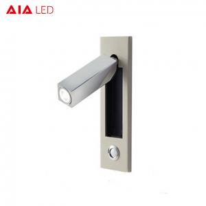 China White Interior IP20 adjustable recessed mounted LED wall light for bedroom on sale