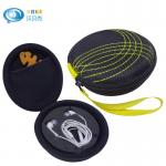 Black EVA Headphone Case Internal Accessory Pocket For USB Cable , Easy Carrying