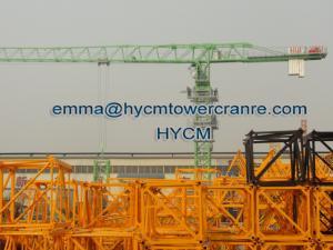 China QTZ160 6020 Top Headless Tower Crane 10 t Load Potain Mast Sections on sale