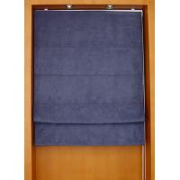 100% polyester fabric roman shades for windows with aluminum headrail and pvc bottomrail