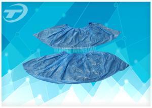 China Tampas descartáveis da sapata do único PE do uso/tampas protetoras não tecidas da sapata on sale