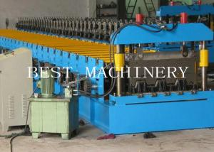China Floor Galvanized Steel Decking Panel Roll Forming Machine PLC Control System on sale