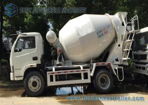 China 4 x 2 Mini Concrete Mixer Pump Truck Manual Control  3 Cubic Meter For Powerful Powertrain on sale