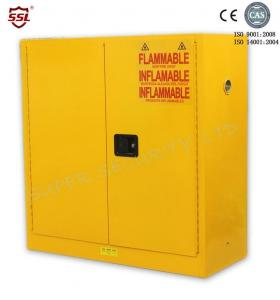 Quality 1.2mm Cold Rolled Steel Hazardous Chemical Storage Cabinet / Industrial Steel Cabinets 30 Gallon for sale