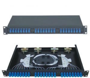 China 1U 2U Rock Optical Fiber Distribution Cabinet 1-24 Cores SC For Indoor / Outdoor on sale