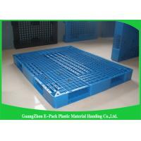 China Heavy Duty Rackable 1 Ton Steel Reinforced blue Plastic Pallets 1200*1000mm on sale