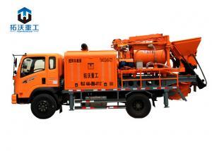 China Topworld TWCQ40 C7 Concrete Mixer Machine / Water Pump Truck 13.58 T Weight on sale