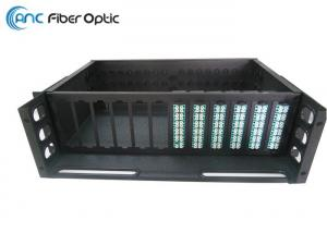 China 288 Core MPO Fiber Optic Cable , 19 3U MPO Rack Mount Patch Panel LGX Steel on sale