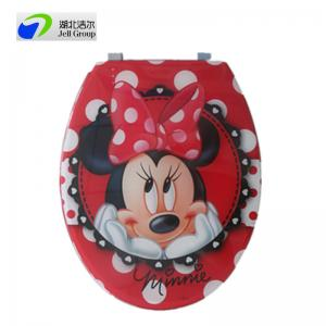 China Colorful Printed toilet seat with OEM printing available and soft close hinges on sale