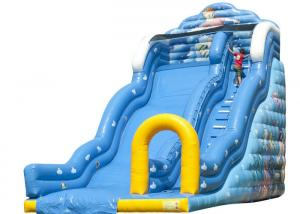 China Wave Seaworld Baby Inflatable Slide , Indoor Playground Blow Up Slip And Slide on sale