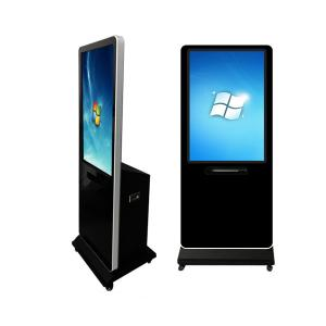 China 43 Floor Standing Digital Touch Screen Signage AD Player With A4 Printer on sale