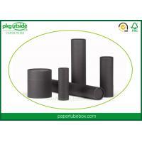 Black Handmade Cardboard Tube Boxes Elegant Design For Perfume Packaging