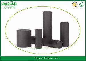 China Black Handmade Cardboard Tube Boxes Elegant Design For Perfume Packaging on sale