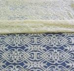 Voile Yellow Cotton Nylon Lace Fabric Eco-friendly Dyeing For Curtain Decoration CY-DK0035