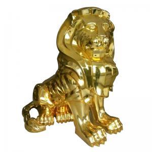 China Rohs Gold Electroplating Service , Lion Sculpture Electroplating Resin Prints on sale