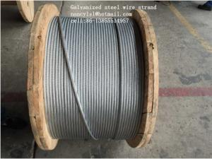 China ASTM B498 Galvanized Guy Wire , 1*7 1*19 Galvanized Wire Rope With Strong Adhesion on sale