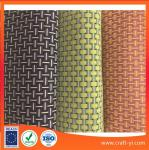 8X8 woven style textilene mesh fabric in PVC coated wire mix three colors suit outdoor