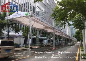 China Heavy Duty Aluminum Stage Truss Banner Stand 500-800kg Loading Weight Solid Structure on sale
