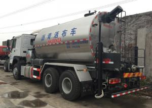 China Road Construction Special Purpose Trucks , Asphalt Distributor Truck 6x4 10000L on sale
