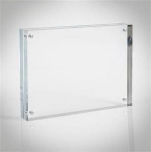 China Magnetic Acrylic Photo Frame acrylic photo block on sale