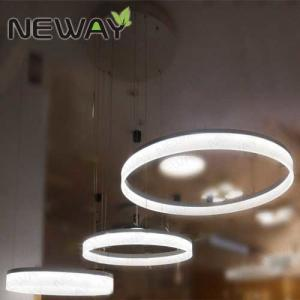 China acrylic ring led ceiling pendant light circle chandelier for home hotel villa bar Crystal Nature White LED Pendant Light on sale