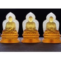 Precious Colored Glaze Buddha Figure For Altar And Worship Custom Texts Accepted