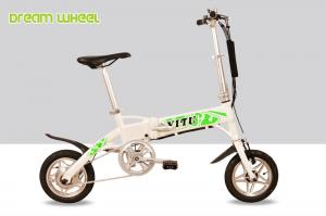 China 12 Inch Aluminum Frame Mini Smallest Folding Electric Bike Motor Powerd on sale