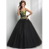 Empire V Neckline Long Wormens Party Dresses , Tulle Evening Gown