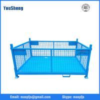 foldable steel pallet crate/storage collapsible metal box/bin