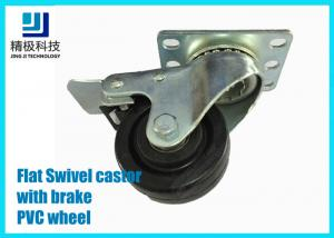 e4a637ffd4d6 3-5 inch PVC / ESD Flat Free Swivel Caster Wheels Plate - mount With ...