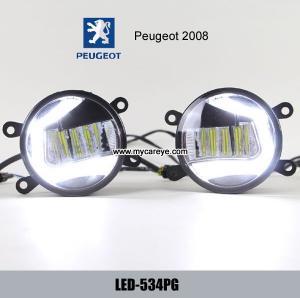 China Peugeot 2008 front fog lamp LED symbol daytime running lights DRL kits on sale