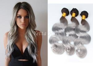 China Body Wave 100% Human Hair Extensions / Ombre Human Hair Weave Extensions on sale