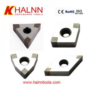 China The reasonable parameters of CBN cutting inserts Hard turning bearing steel after heat treatment on sale