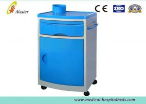 China OEM Hospital Bedside Cabinet Medical Steel Cabinet Locker With Dining Board / Drawer on sale