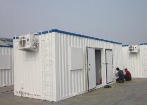China Welding Light Steel Structure House With Fiber Glass Wool As Insulation on sale