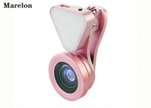 China Macro Clip - On Universal Phone Selfie Lens LED Flashlight With Wide Angle 140 Degrees on sale